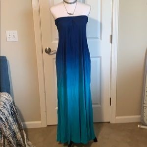 Beautiful Ombré Strapless Maxi